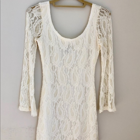 Charlotte Russe Dresses & Skirts - Lace Ivory Cocktail Dress